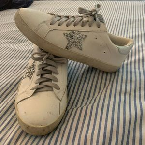 Golden Goose Silver Star White Low Too Sneakers